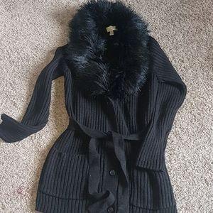 MICHAEL Michael Kors sweater coat with detachable